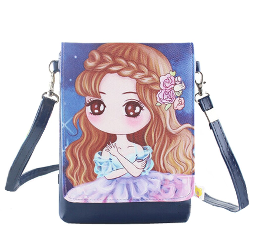 Girls Kids PU Leather Shoulder Bags Crossbody Bags Cell Phone Case Holder Purse