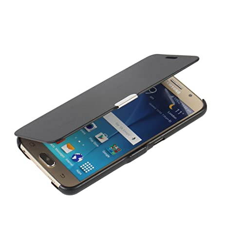 MTRONX für Samsung Galaxy S6 Hülle, Case Cover Schutzhülle Tasche Etui Klapphülle Magnetisch Dünn Leder Folio Flip für Samsun