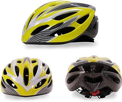 Amazon.es: ZSLLO Ciclismo casco bicicleta bicicleta montaña carretera bicicleta casco gafas de sol montando bicicleta casco (Color : Amarillo)