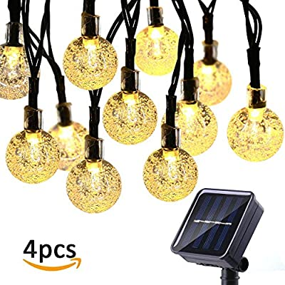 Icicle Waterproof 30 LED Crystal Solar Globe String Lights