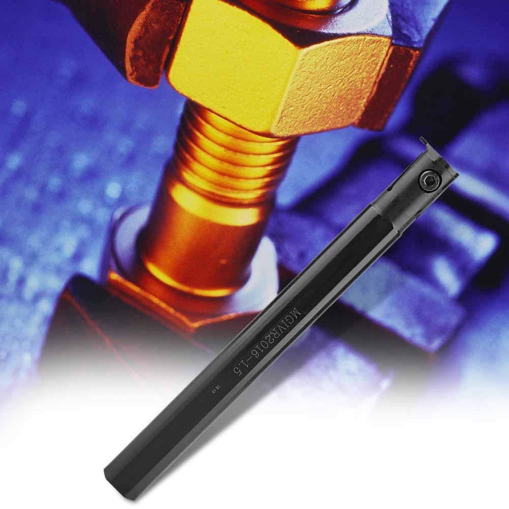 MGIVR2016-1.5 Inserciones de portaherramientas de broca de torno de cambio r/ápido CNC Portaherramientas de torneado de torno de 6.3 pulg Portaherramientas de ranurado para torno de servicio pesado
