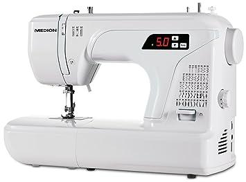 MEDION MD 16661 - Máquina de coser (Máquina de coser automática, Costura, 4 mm, LED, 700 RPM, 5 mm): Amazon.es: Hogar