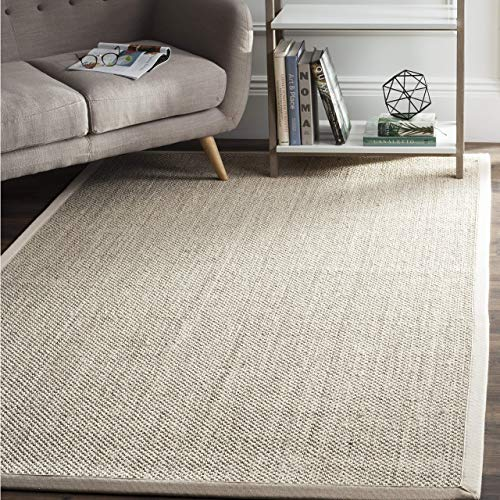 Safavieh Natural Fiber Collection NF143C Marble and Beige Sisal Area Rug (5' x 8')