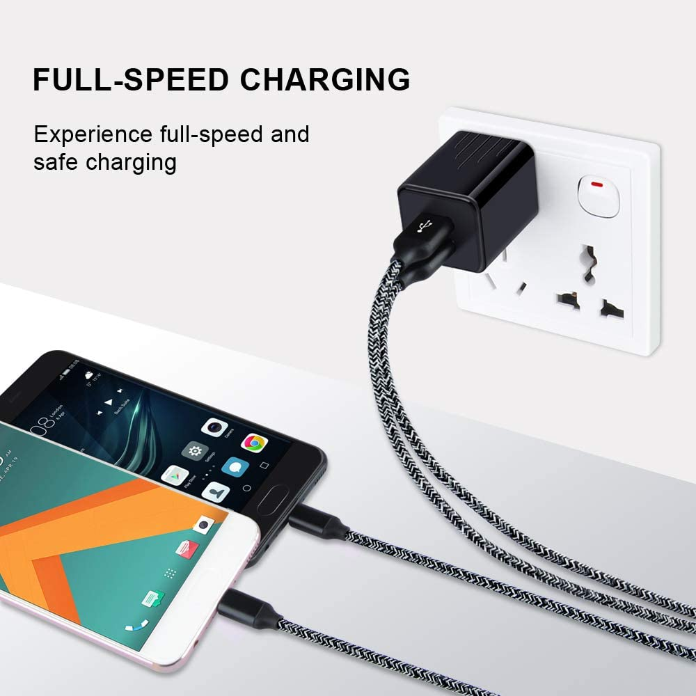 High-Speed Syncing Charging Cable for Samsung Galaxy S8 S9 8S 9S Note 8 Note 9 Amtobo 2 Pack 6ft Long Nylon Braided Charger C Cord LG G6 G5 V20 G7 ThinQ Cell Phone USB Type C Cable