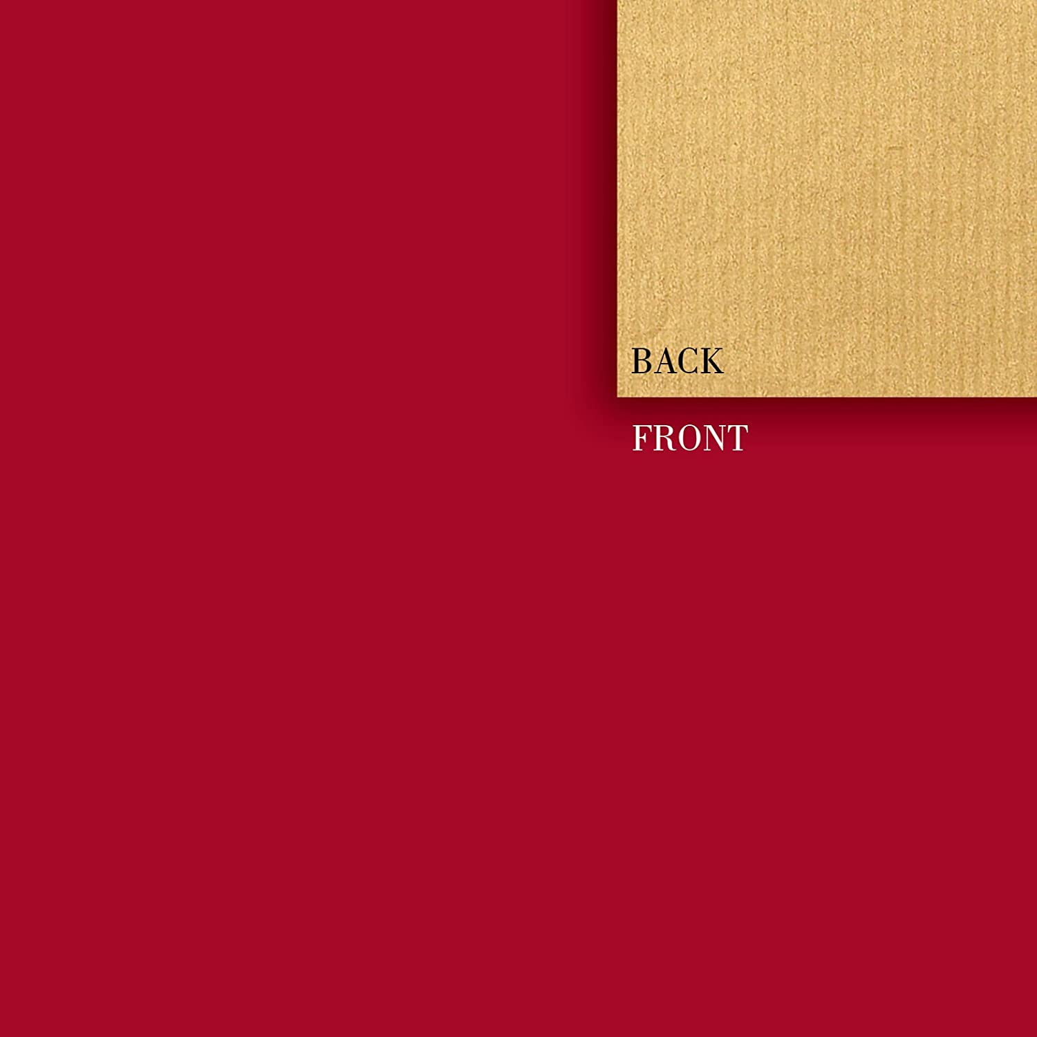 Jillson Roberts Double-Sided Gift Wrap, Red and Gold Kraft, 6-Roll Count (R993)