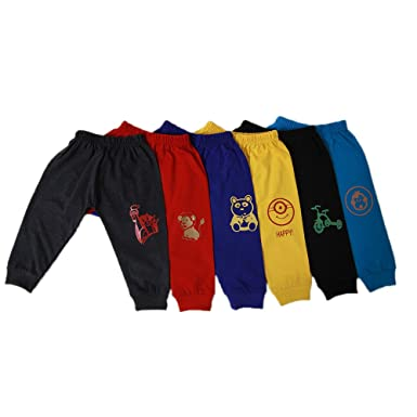 ecc5f2b53 Jack s Star Infant s Cotton Track Pants - Pack of 6  Amazon.in ...