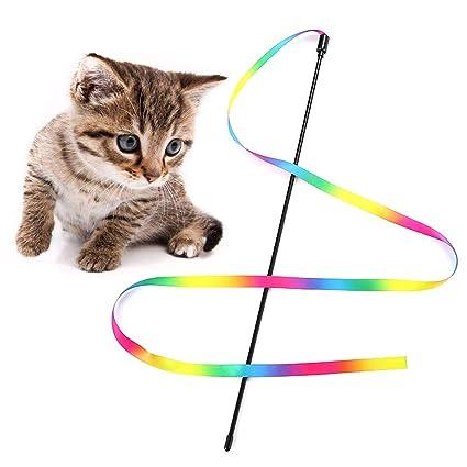 Haven shop Juguetes de rascador para Gatos, interactivos, Coloridas Cuerdas, Juguetes para Gatos