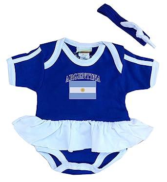 Amazon Com Pam Gm Argentina Baby Girl Soccer Ruffle Bodysuit
