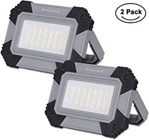 Honeywell 500 Lumens LED Battery Work Light, Portable Work Light with 2 Lighting Modes for Car Repairing, Garage and Camping Emergency