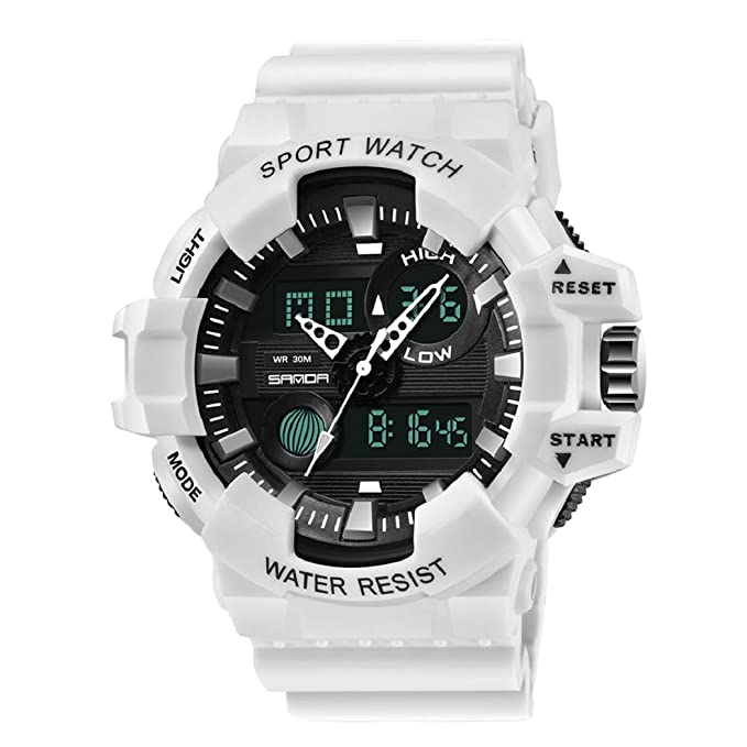 Hombre Relojes, Lananas Deportes Multifuncional Militar Tropas Especiales LED Relojes de Pulsera Men