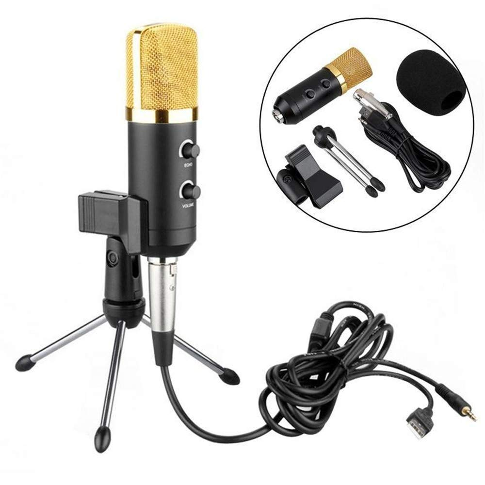 YSINOBEAR Professional USB Podcast Condenser Microphone PC Recording MIC with Stand Tripod Sound Microphone