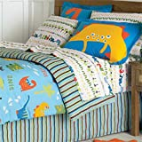 Dinosaur Bedding Set - 6pc Dino T-Rex Comforter Set - Twin Bed