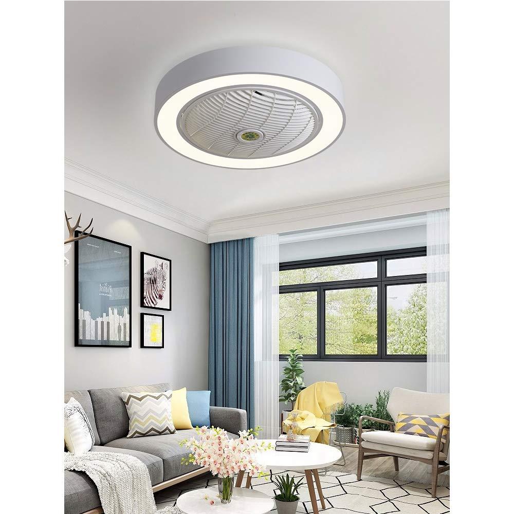 Ssmmxx Schlafzimmer Fan Deckenleuchte Moderne Deckenleuchte LED Dimmbar deckenventilator mit Beleuchtung und Fernbedienung leise Kinderzimmer Schlafzimmer Wohnzimmer Beleuchtung