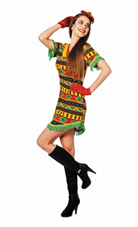 Disfraz de mexicana multicolor mujer: Amazon.es: Juguetes y juegos