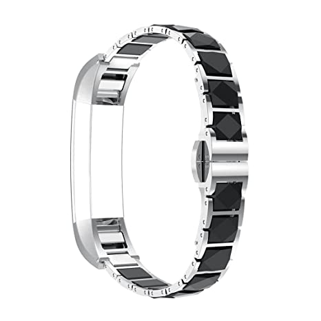 Bracelet Fitbit Alta HR, Rosa Schleife®Montre Connectée Bracelet Femme Fitbit Alta HR Acier