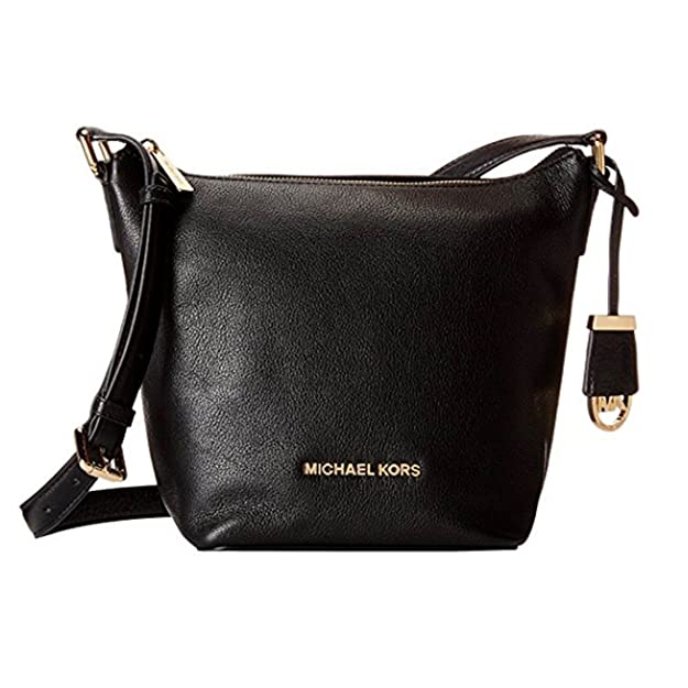 031315ec6bb2 MICHAEL KORS Bedford Medium Leather Crossbody (Black): Handbags: Amazon.com