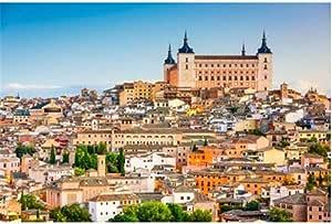 ZZXSY Puzzles 1000 Piezas Adultos Toledo España Ciudad Vieja Paisaje Urbano En El Alcázar Adecuado para La Decoración del Hogar.: Amazon.es: Hogar