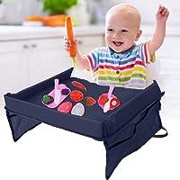 Mesa para niños en la Asiento de Coche, bandeja infantil del coche Bandeja de almacenamiento para asiento de coche, Bandeja De Viaje para niños
