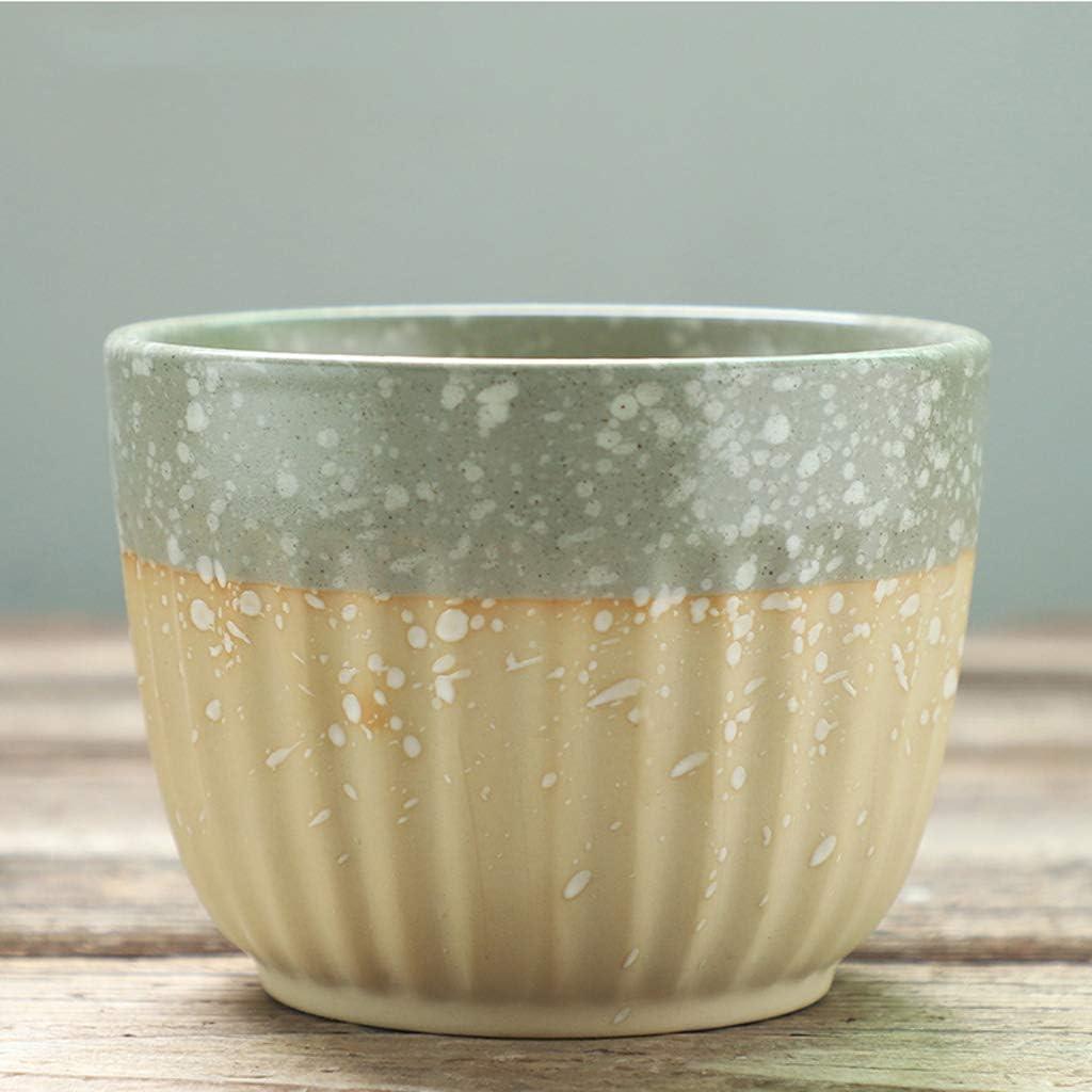 CJH Polka Dot Ceramic Breathable Succulent Blumentopf Einfacher kreativer Blumentopf (Color : Gray)