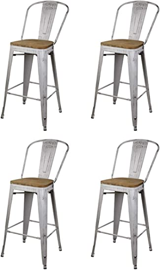 GIA High Back Armless Bar Chair