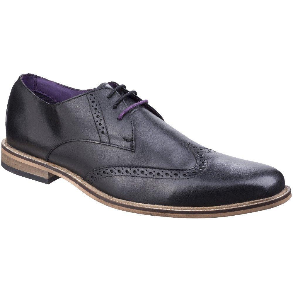 Lambretta Mens Franky Brogue King Lace Up Brogue Oxford Smart Shoes  UK Size 15 (EU 15) Black