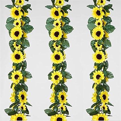 Amazon Balsacircle 24 Ft Yellow Silk Flower Garlands 4