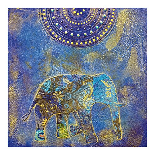 (Non-Woven Wallpaper Elephant in Marrakech Square, 75.6 x 75.6 inches )