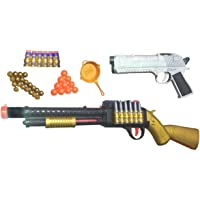 IndusBay® 22 Inches PUBG S1897 Toy Shot Gun with Pistol , Pan and Soft Dart Bullets - 4 in 1 Soft Bullet Shotgun Toy for Kids Boys