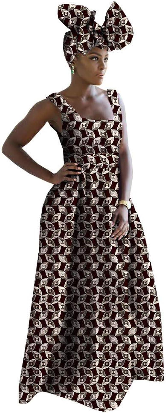 Amazon.com: Ankara - Vestido tradicional de tela africana ...