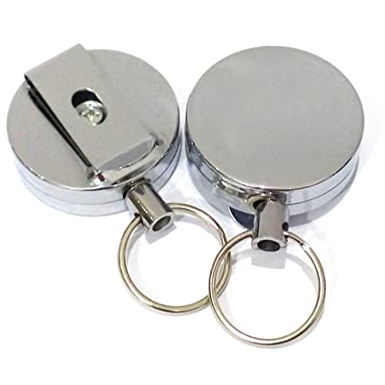 Llavero de 2 piezas con llavero de metal anti-perdida anti ...