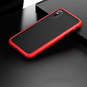 PERFECTSIGHT Case for iPhone Xr 6.1 inch, [Matte Anti Fingerprint] Shockproof Heavy Duty TPU PC Cases [Drop Protection] [Scratch Resistance] Cover (Red)