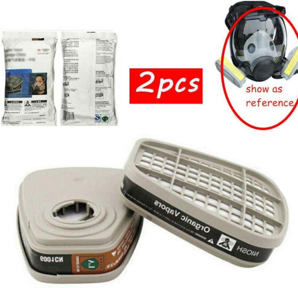 KKPLZZ Filtro de Cartucho 6001cn, Filtro de Cartucho 2pcs 6001cn para máscara de Gas de respirador 6800 6200 7502
