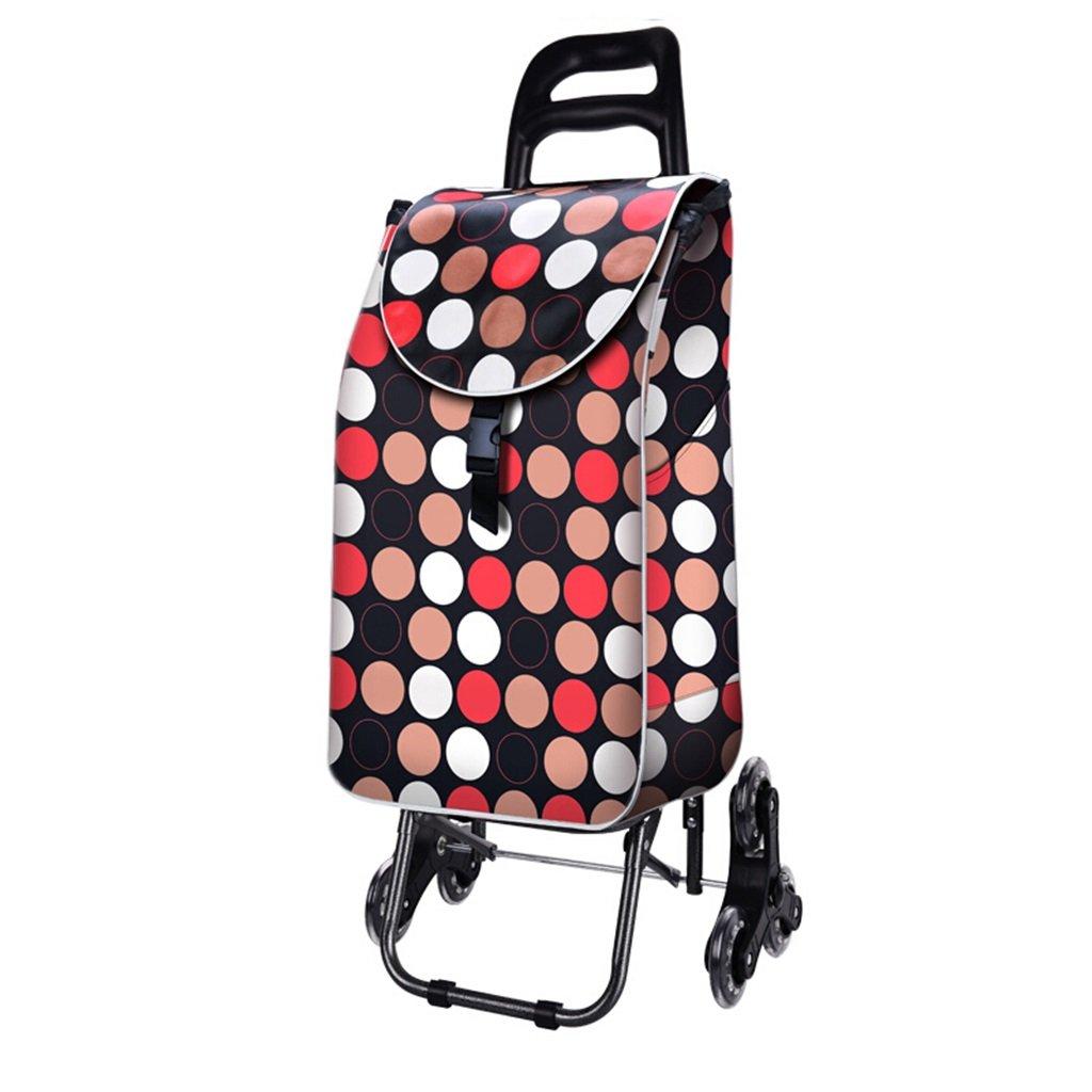 ハンドトラックカートショッピングカート家庭用階段折りたたみ可能なクリスタルホイールトロリーレバー車の荷物カートには布袋の重量が含まれています25 Kg 丈夫で持ち運びやすい (色 : C) B07FBBNNHK  C