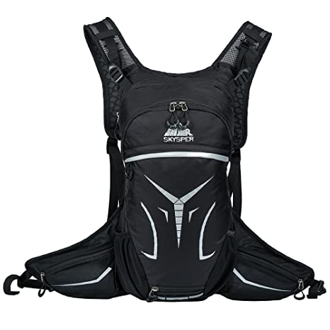 Skysper Cycling Backpack 15L Bike Daypack Ultralight Breathable Hydration Backpack  Riding Rucksack with Helmet Storage for 1e5268a57