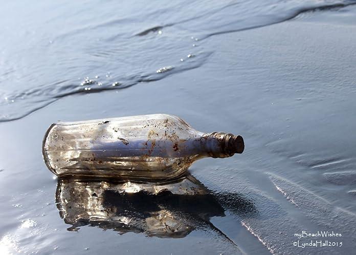 Amazon Com Beach Photography Message In A Bottle Handmade