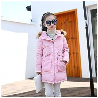 b157808e129e LPATTERN Kids Girls Long Lightweight Down Jacket Fur Hooded Puffer ...