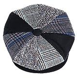 Mens Patchwork Wool Big Apple Duckbill Ivy Newsboy Irish Tweed Cap Hat Navy (M)