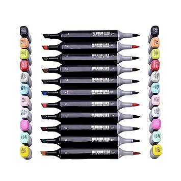 Rotuladores de doble punta con alcohol, 72 colores, set básico profesional para artistas,