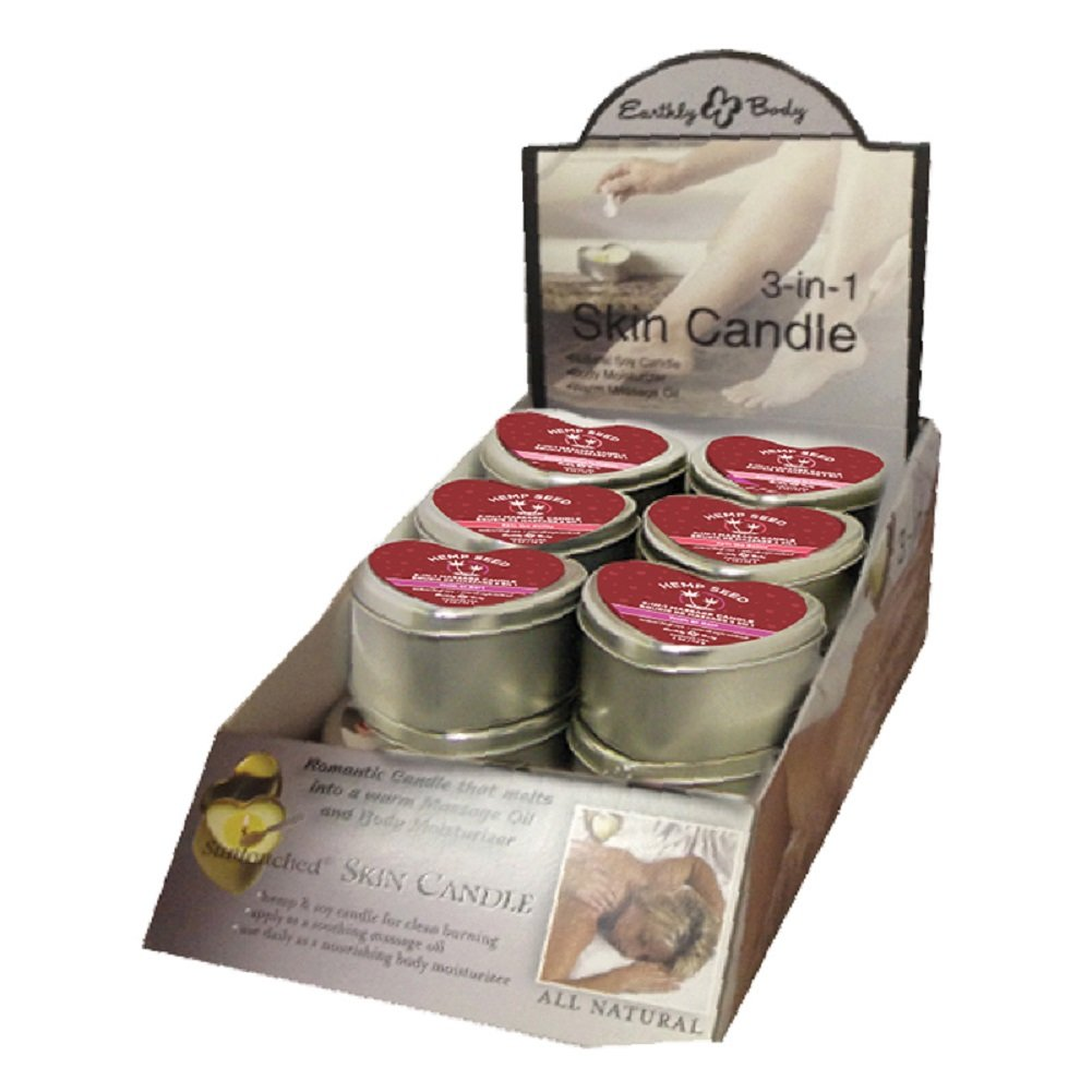 Earthly Body Valentines Day 2018 Massage Candle Counter Display - 12 Piece
