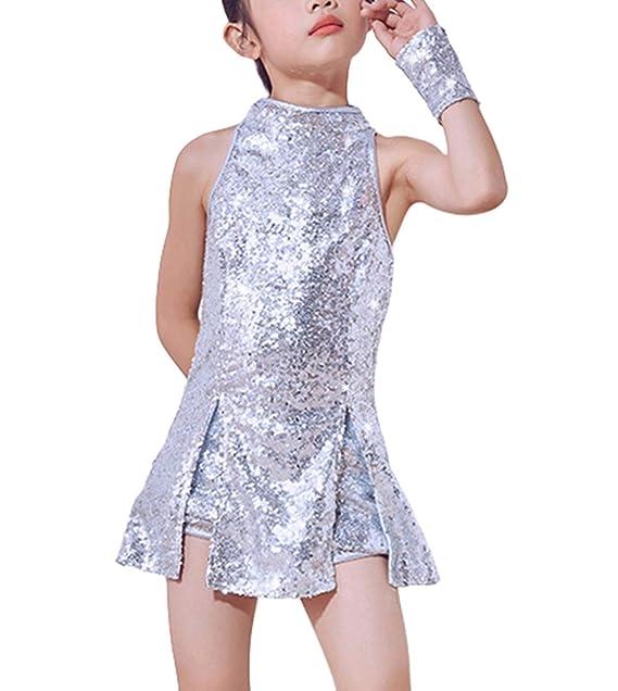 Traje de Baile de Lentejuelas para niñas Ropa de Baile de ...