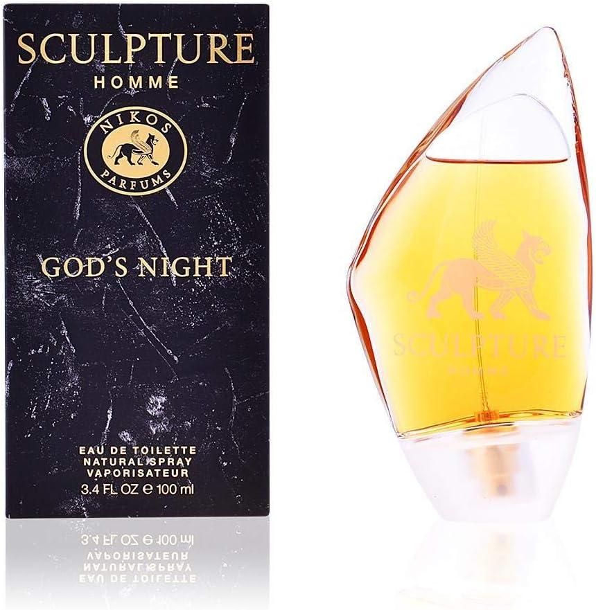 Nikos Escultura Homme dios de la noche agua de colonia para mujer en spray, 100ml