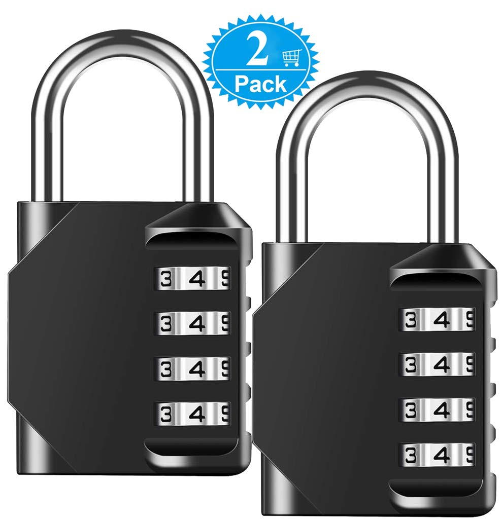 59acdc0f78bc Combination Padlock Heavy Duty Lock - BeskooHome Waterproof 4-Digit  Combination Lock for School, Gym, Outdoor Shed Locker - 2 Pack