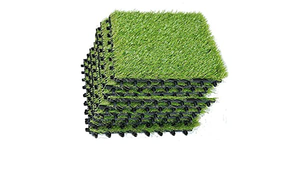 40mm Artificial Grass Astro Turf Fake Lawn Realistic Natural Green Garden Mat