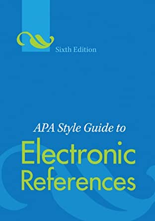 Apa style guide to electronic references sixth edition for Free apa template 6th edition