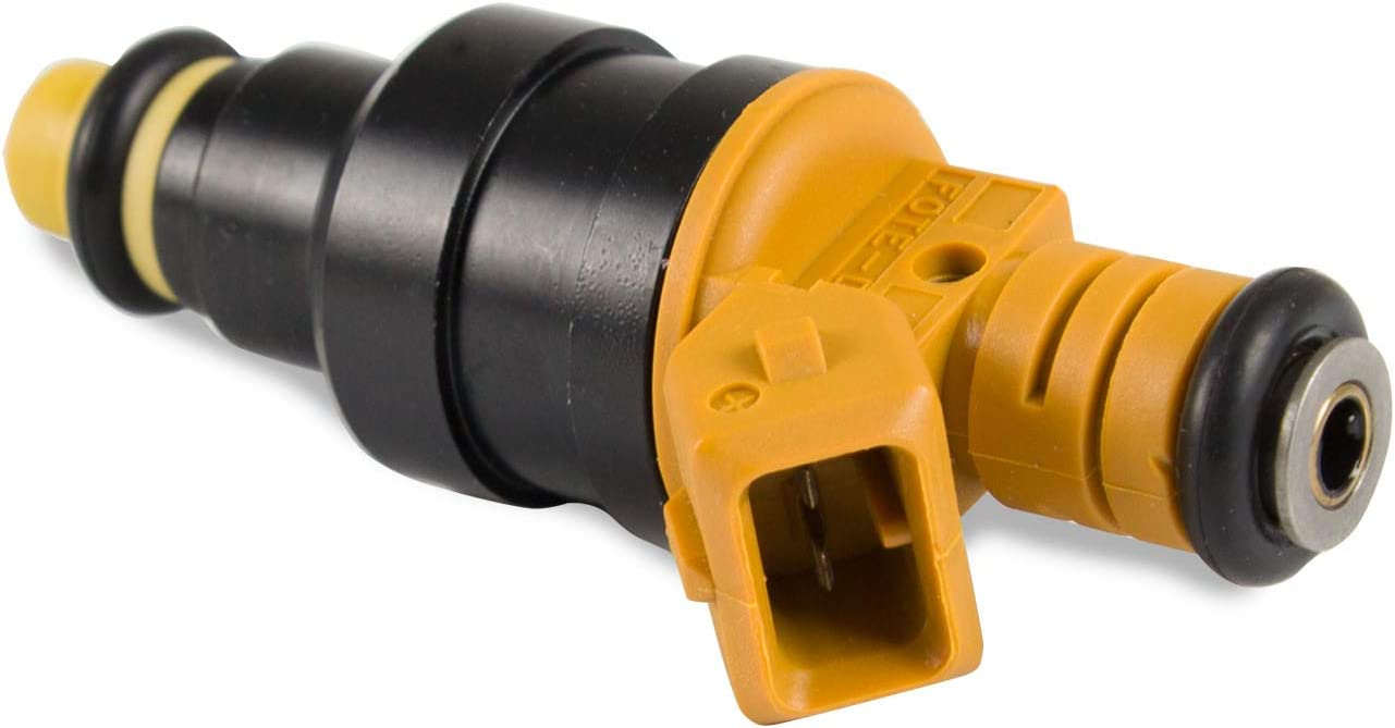 Yellow Flow Matched Fuel Injector for Ford F150 F250 F350 Mustang Expedition Excursion Crown Victoria Bronco Econoline Lincoln 4.6 5.0 5.4 5.8 V8 engine Replace Part Number 0280150939 0280150943