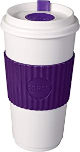 Copco 778362 16 oz. BPA Free Plastic Travel Slide Open Spillproof Lid Tumbler, Purple