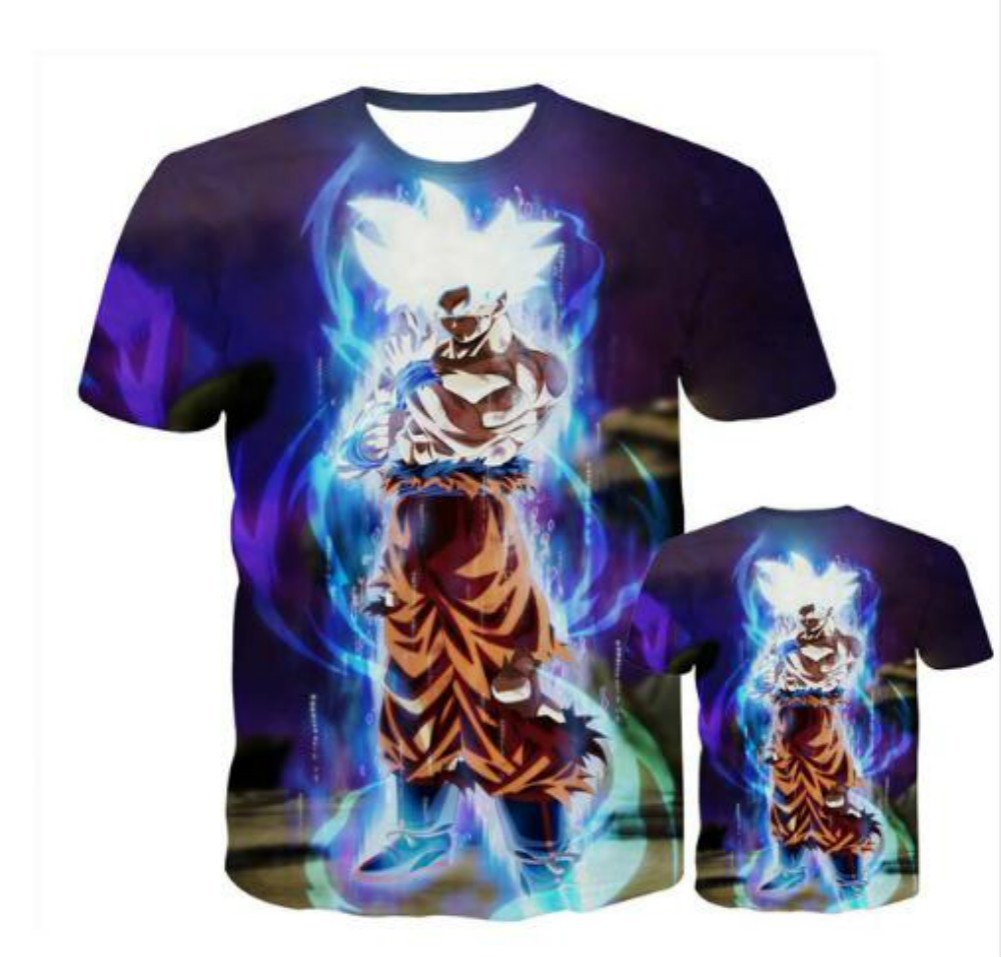 Men Women Dragon Ball t Shirt 3D Print Galaxy T-Shirt Cartoon Anime Super Saiyan Tee Shirt Homme Summer Teenager Streetwear (S)
