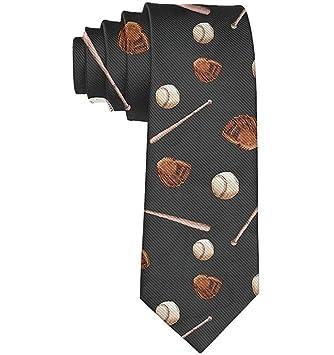Baseball Ball Bat Necktie Gift Moda Corbatas de seda para hombres ...