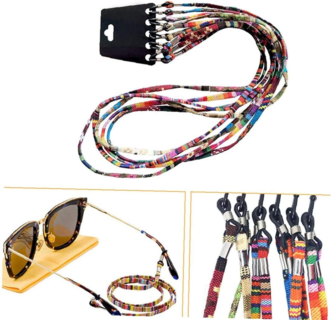 Set Mischfarben-sonnenbrille B/ügel Brille Lanyard Halter Kette Brille Cord 12pcs