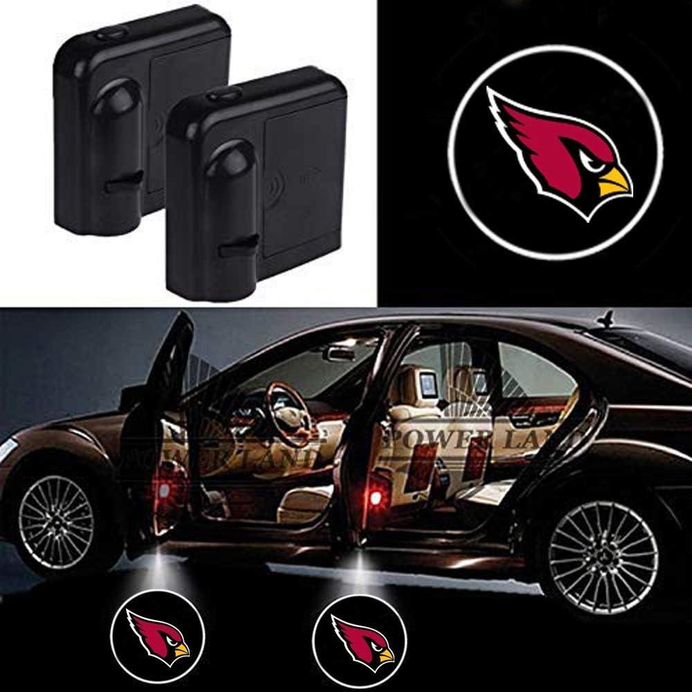 For Fit Arizona Cardinals Car Door Led Welcome Laser Projector Car Door Courtesy Light Suitable Fit for all brands of cars Fit Arizona Cardinals
